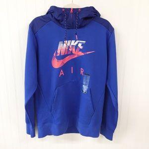 Nike Air   Zip Mock Neck Hoodie